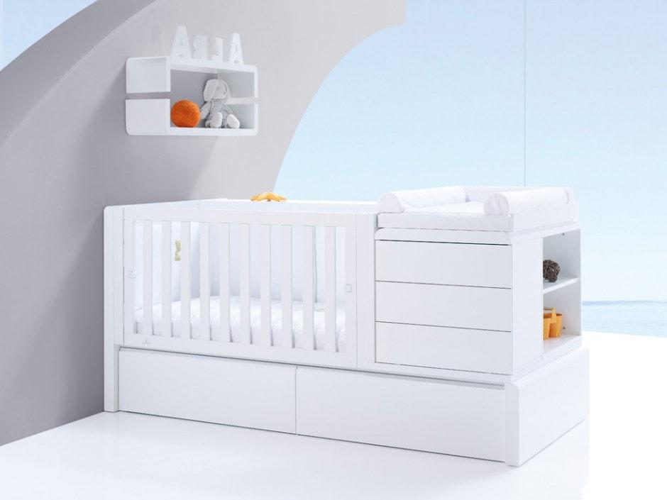 las cunas convertibles son una excelente opción para los dormitorios infantiles