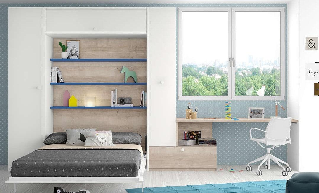 las camas abatibles de matrimonio son estupendas para los estudios y apartamentos pequeños
