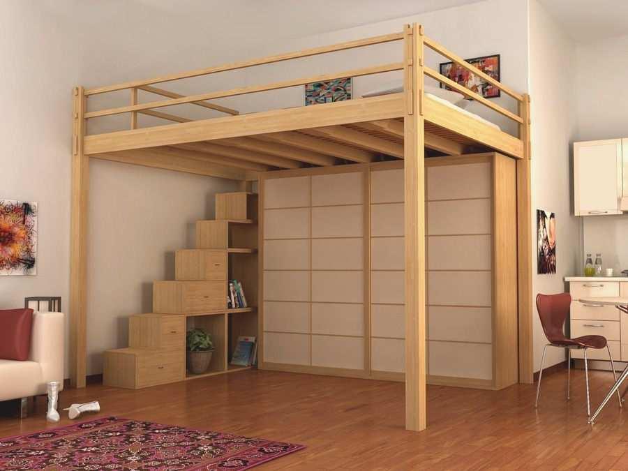 las camas altas de matrimonio permiten aprovechar el espacio inferior en su totalidad