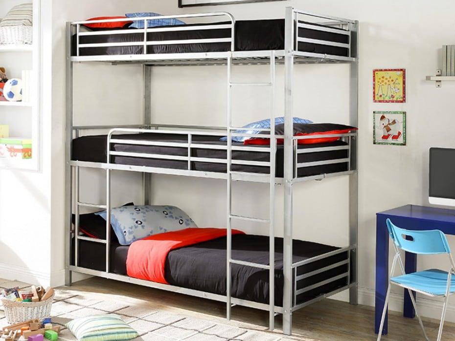 literas de tres alturas para dormitorios juveniles