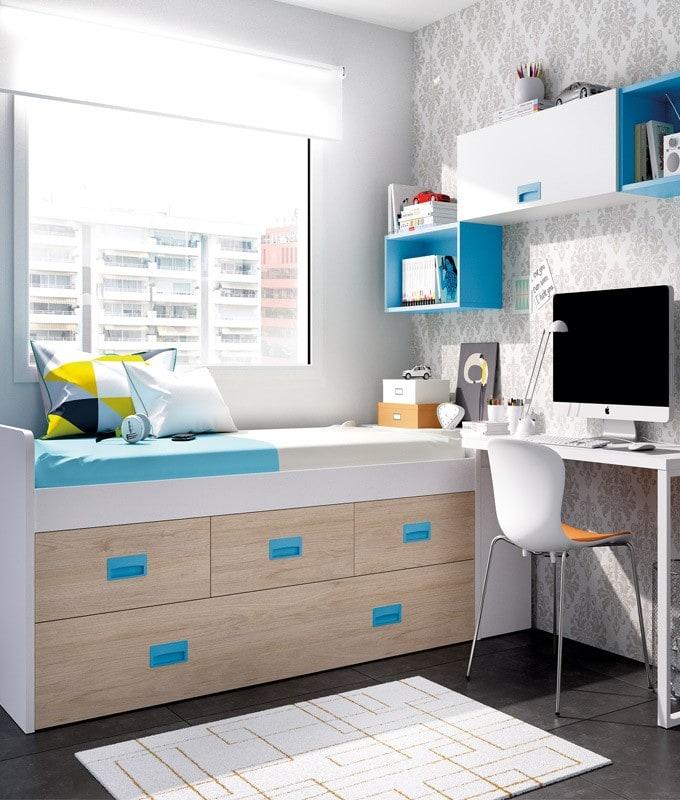 camas nido para habitaciones pequeñas juveniles