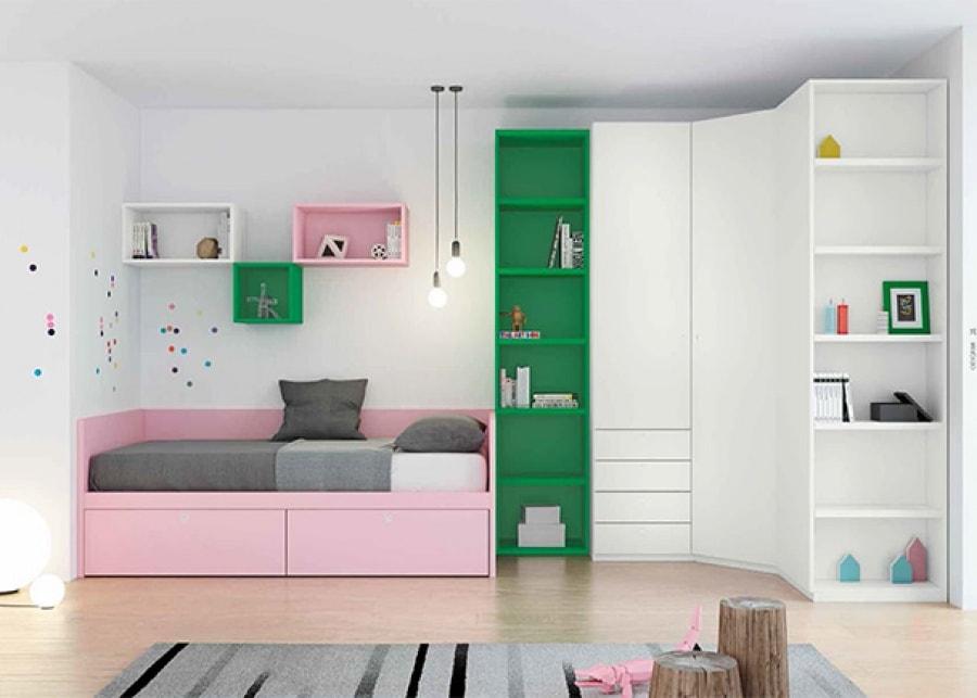 cama nido para habitación infantil doble