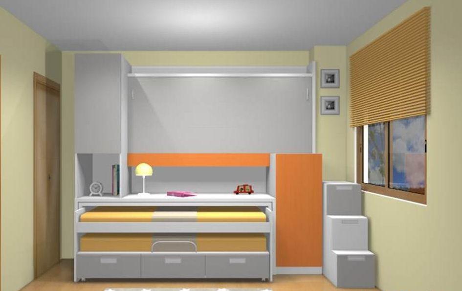 cama compacta para habitaciones juveniles pequeñas