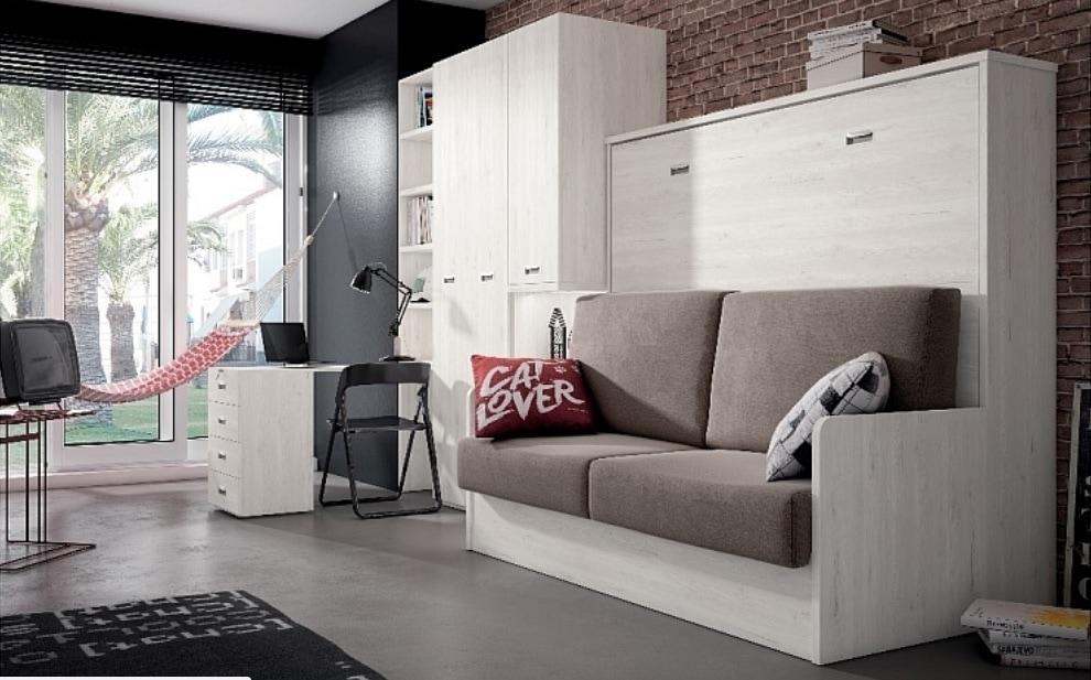camas abatibles horizontales con sofá