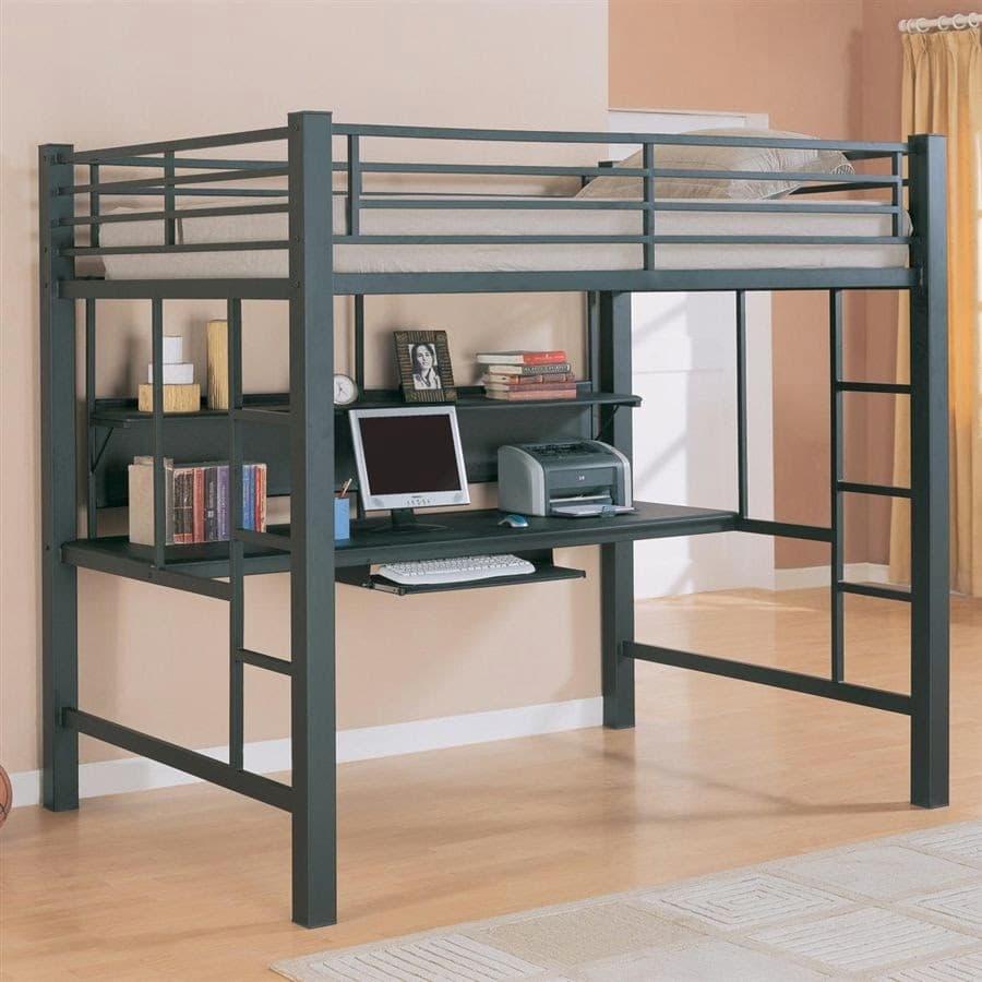 camas altas para dormitorios juveniles pequeños