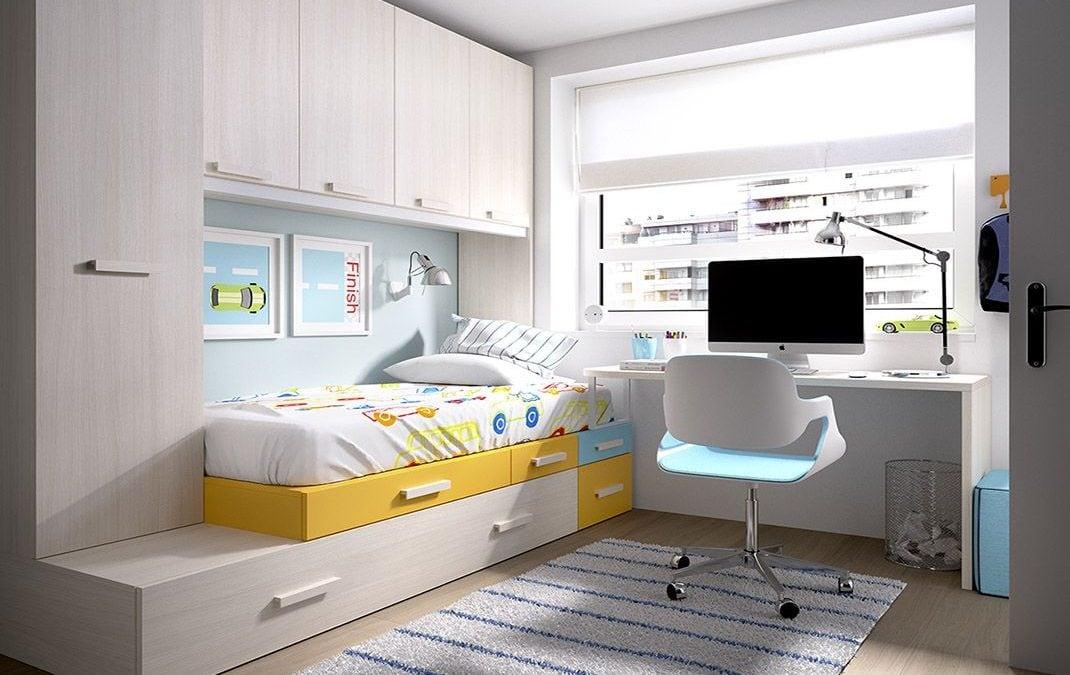 Colores para habitaciones peque as juveniles que agrandan for Colores para habitaciones pequenas