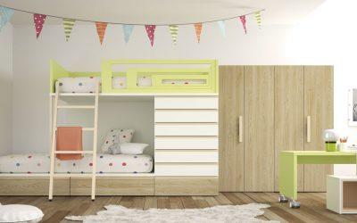Habitaciones infantiles con literas para todos los gustos