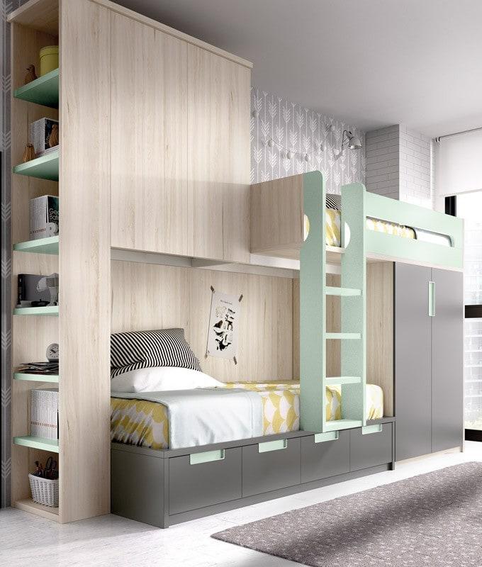 Habitaciones infantiles con literas para todos los gustos - Habitaciones infantiles tren ...