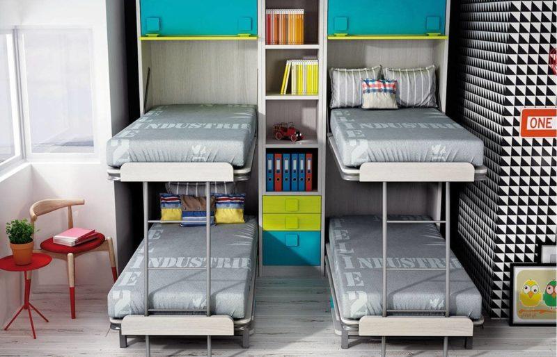 literas abatibles para habitaciones infantiles