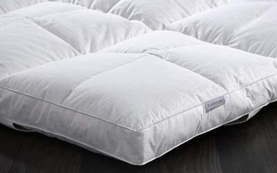 Cubre colchón de plumas para dormir mejor