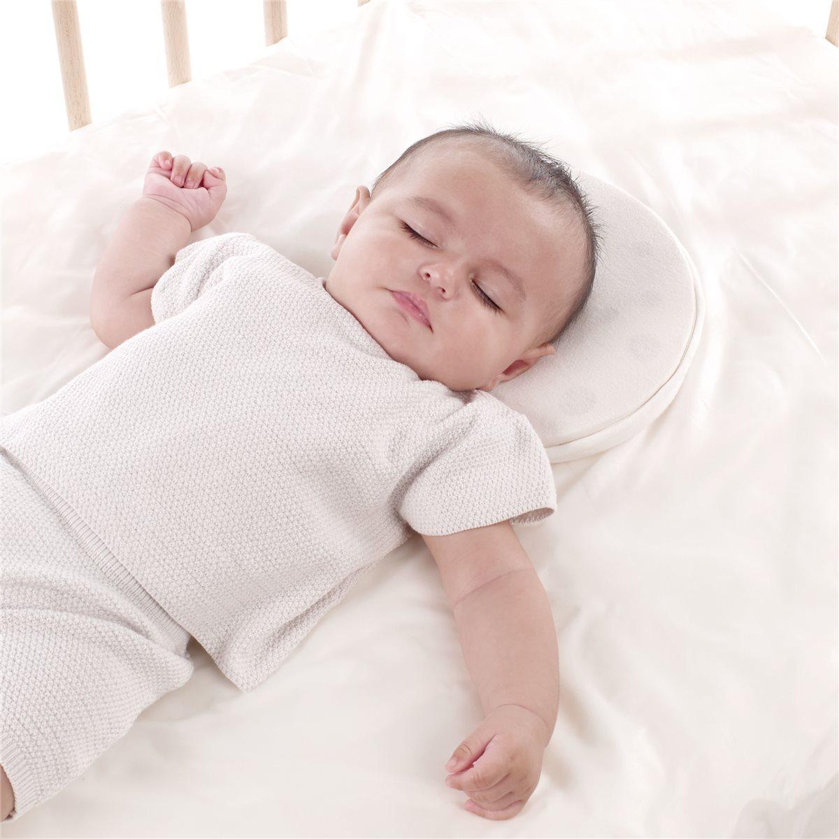 almohada cuna bebé plagiocefalia