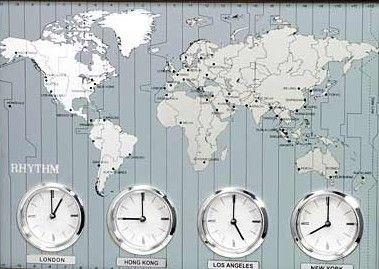 Zonas horarias de diferentes países