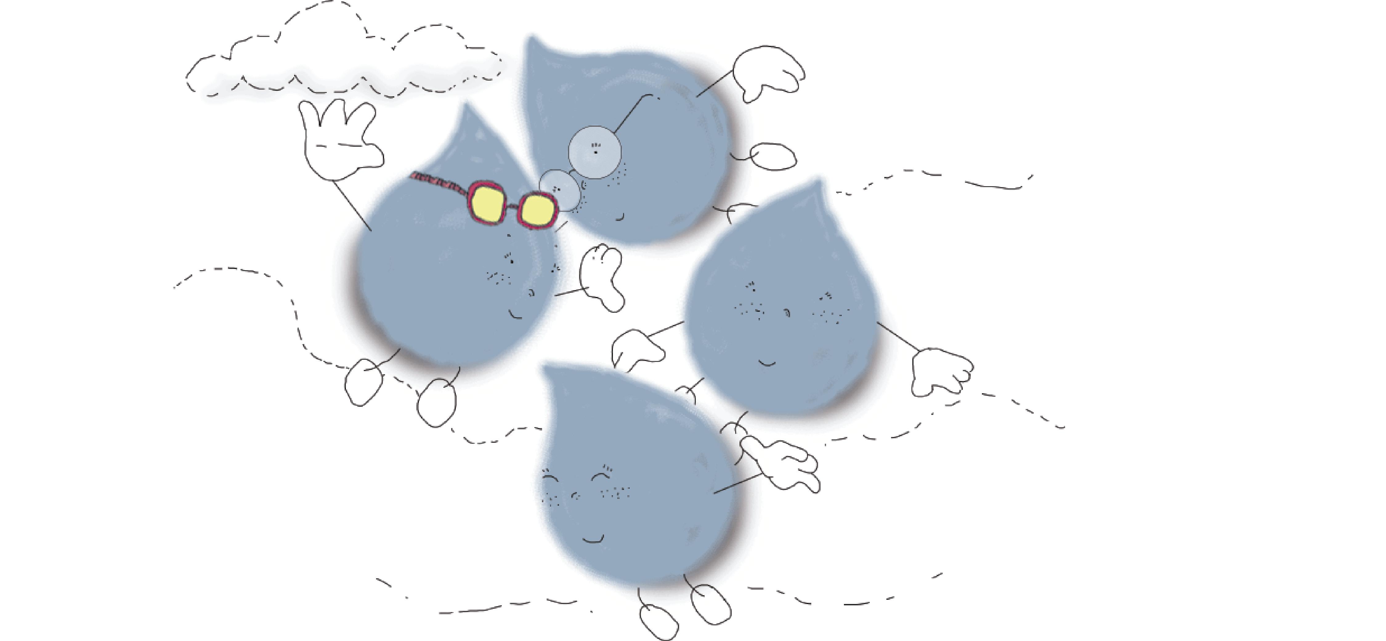 La gotita valiente volviendo a las nubes