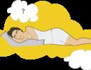 ¿Cuándo debes dormir sin almohada?