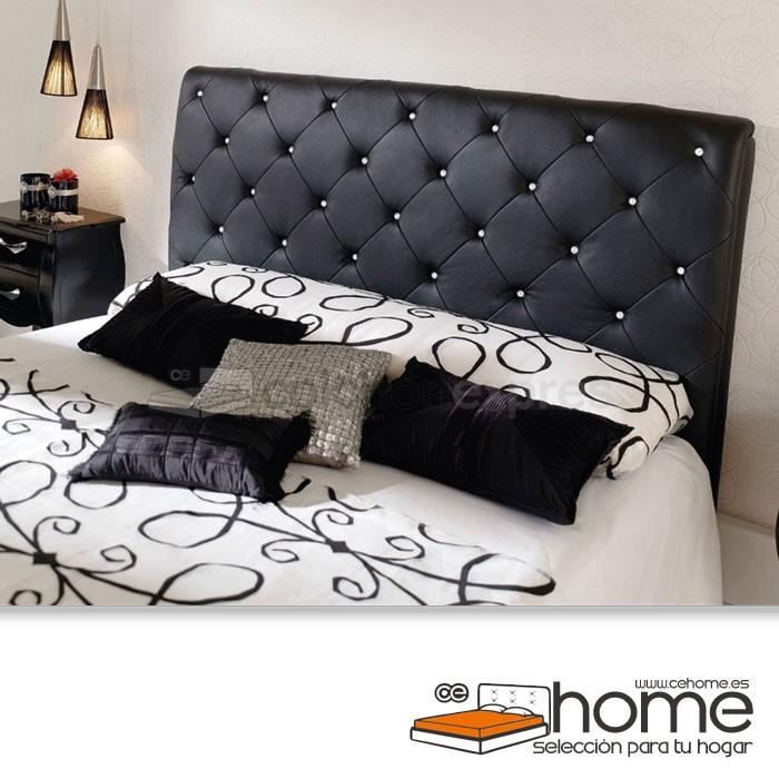 cabecero de cama tapizado polipiel cehome kelly