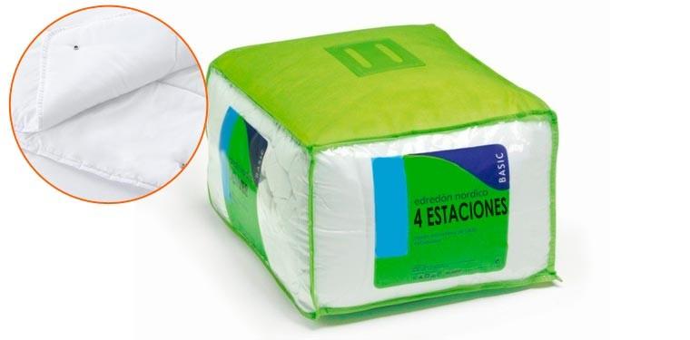 PACK COLCHON BIOCELULAR JUNIOR + ALMOHADA SILK + EDREDON 4 ESTACIONES