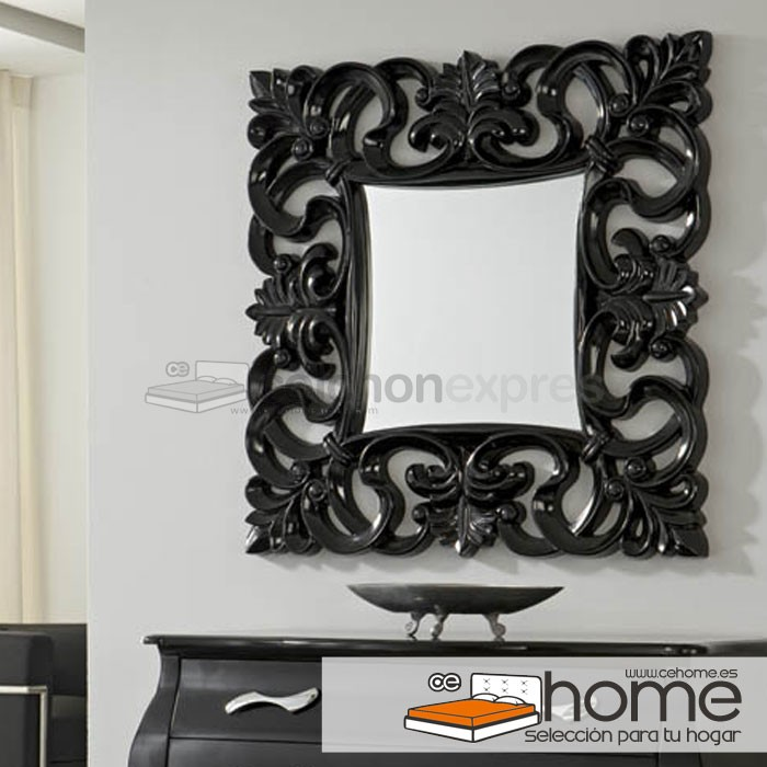 Espejo flor barroco cuadrado for Espejo barroco