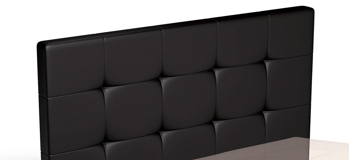 Cabecero de cama tapizado en EcoPiel con Capitone CE Home Fino H120