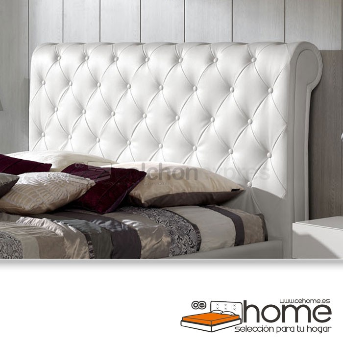 Cabecero de cama tapizado polipiel CeHome Navarra descatalogado