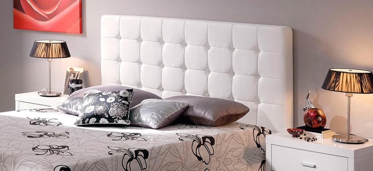 Cabecero de cama tapizado Ecopiel con Capitone CE Home Elegance