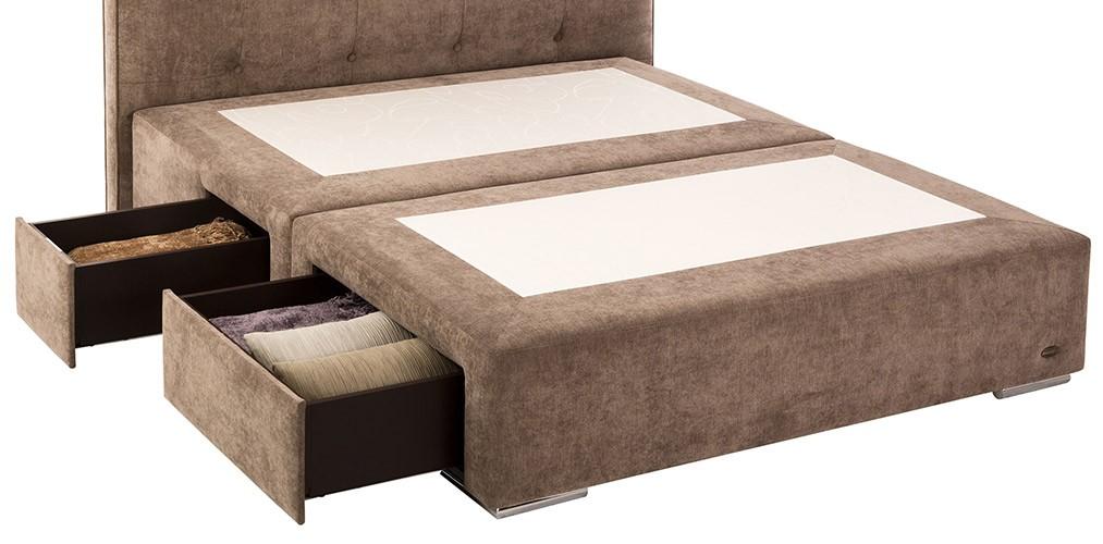 Canape con cajones tapizado dunlopillo for Canape software