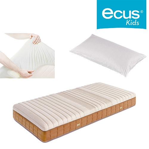 Pack ahorro Colchón juvenil Ecus Kaishi + Almohada Chiquitin + Cubre Impermeable SmartCell