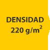 densidad 220 gramos